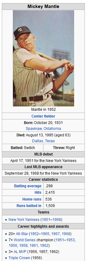 mickey mantle ff